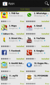 Google Play featured contents